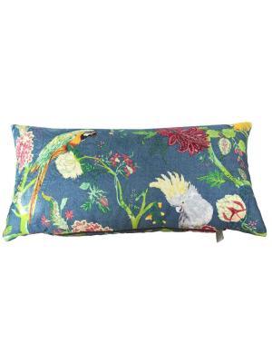 Декоративная подушка Жако LACCOM. Цвет: желтый, темно-зеленый