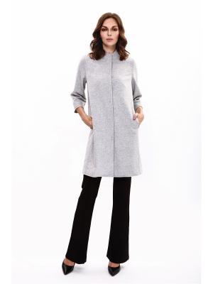 Пальто PAOLA MORENA. Цвет: серый, светло-серый, темно-серый