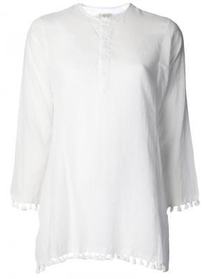 Рубашка Tassel Kurta Dosa. Цвет: белый