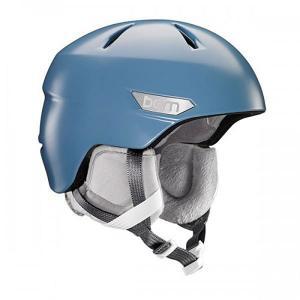Шлем для сноуборда женский  Bristow Satin Atlantic Blue/Grey Canvas Liner Bern. Цвет: синий