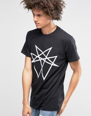 Long Clothing Oversize-футболка Octogram. Цвет: черный