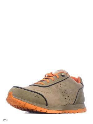 Ботинки WOODLAND. Цвет: хаки