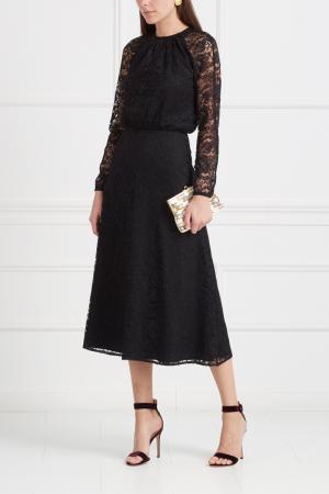 Кружевное платье LAROOM. Цвет: черный