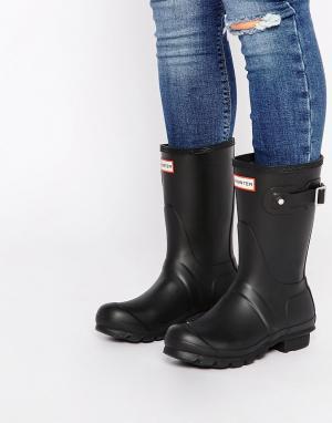 Hunter Короткие черные сапоги Original. Цвет: черный
