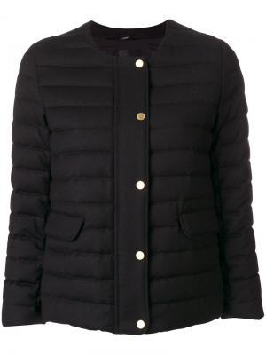 Укороченное пальто-пуховик Tatras. Цвет: чёрный