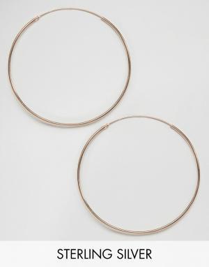 Kingsley Ryan Серьги-кольца с покрытием из розового золота. Цвет: золотой