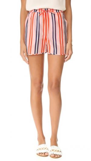 Пляжные шорты Diane von Furstenberg. Цвет: огненный красный в полоску aikin