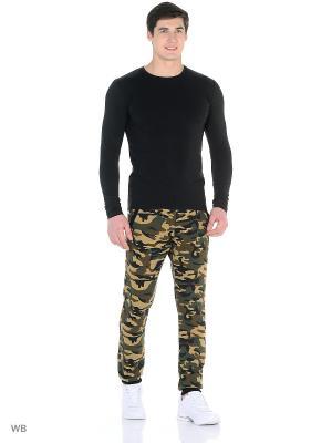 Спортивные брюки TAGERTON. Цвет: хаки