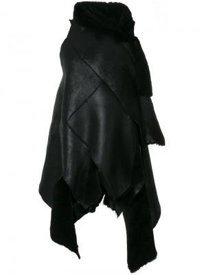 Пальто с запахом Ivan Grundahl. Цвет: чёрный