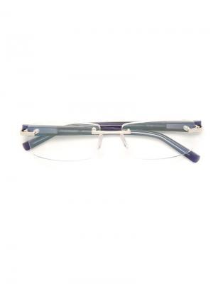 Оптические очки в прямоугольной оправе Tag Heuer. Цвет: синий