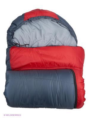 Спальный мешок. Левый Larsen. Цвет: красный, темно-синий