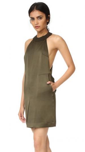 Мини-платье Raelyn AQ/AQ. Цвет: зеленый милитари