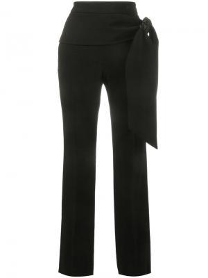 Креповые брюки с завязками сбоку Givenchy. Цвет: чёрный