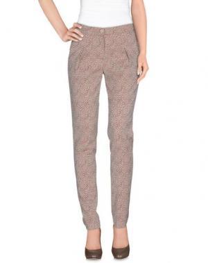 Повседневные брюки LE'S. Цвет: какао