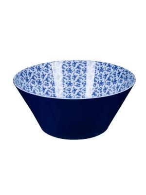 Салатник  d24,5 x 10,5см, Миндальное печенье Сюзанны Orval. Цвет: синий, белый