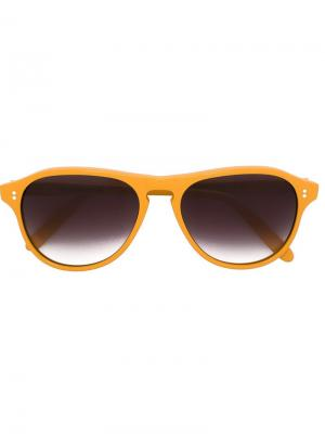 Солнцезащитные очки с градиентными стеклами Cutler & Gross. Цвет: жёлтый и оранжевый