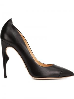 Туфли с заостренным носком Jerome Rousseau. Цвет: чёрный