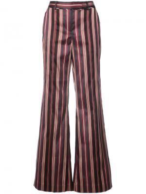 Полосатые расклешенные брюки Zimmermann. Цвет: чёрный