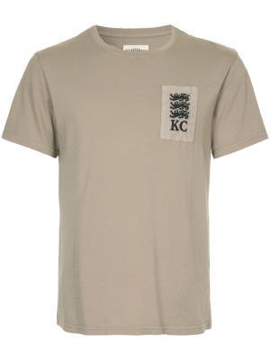 Футболка с заплаткой Kent & Curwen. Цвет: телесный
