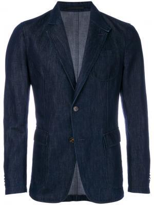 Джинсовый пиджак Z Zegna. Цвет: синий