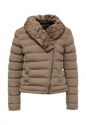 Куртка утепленная Emoi. Цвет: бежевый