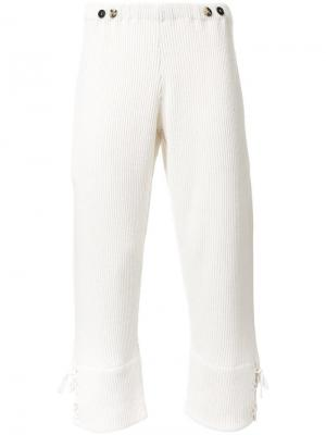 Укороченные брюки J.W.Anderson. Цвет: белый