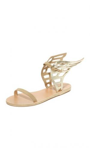 Сандалии на шнуровке Ikaria Ancient Greek Sandals. Цвет: золотой