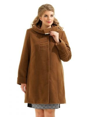 Пальто LikModa. Цвет: бронзовый