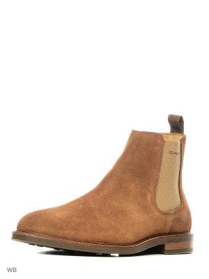 Ботинки GANT. Цвет: светло-коричневый