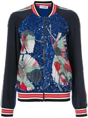 Куртка-бомбер с вышивкой и пайетками Leonard. Цвет: чёрный