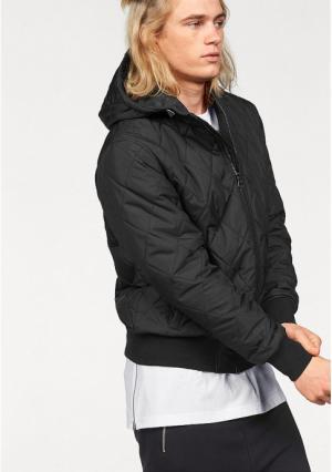 Стеганая куртка JOHN DEVIN. Цвет: черный