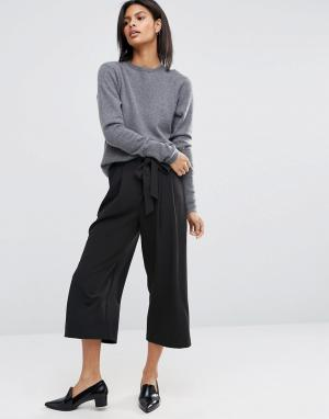 ASOS Юбка-брюки с поясом Tailored. Цвет: черный