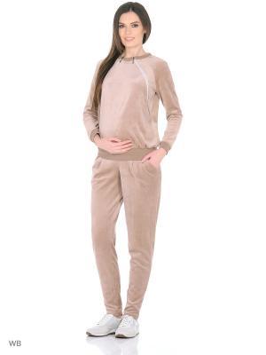 Домашний костюм Nuova Vita. Цвет: бежевый, светло-коричневый