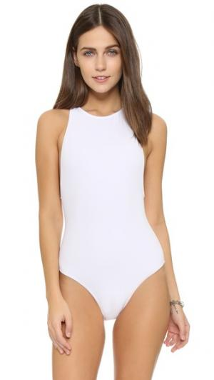 Сплошной купальник с молнией на спине OYE Swimwear. Цвет: белый