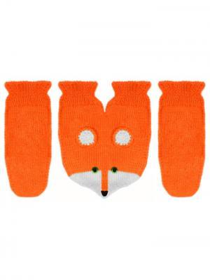 Варежки для влюбленных Knitto.ru. Цвет: оранжевый