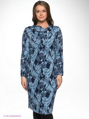 Платье Forus. Цвет: голубой, темно-синий
