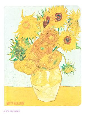 Чехол для IPad, Подсолнухи Ван Гога Mitya Veselkov. Цвет: белый, желтый