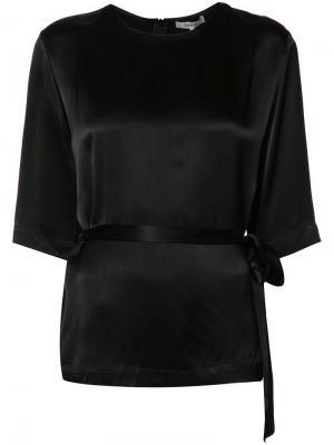 Блузка с поясом Ganni. Цвет: чёрный