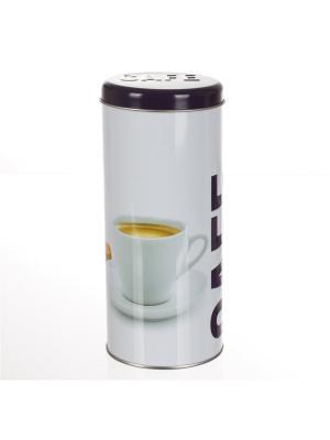 Банка для хранения металлическая с крышкой, кофе JJA. Цвет: фиолетовый