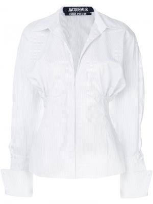 Рубашка с пышными рукавами Jacquemus. Цвет: белый