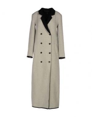Пальто MANILA GRACE. Цвет: светло-серый