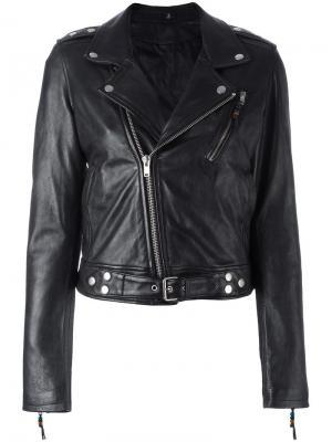 Классическая байкерская куртка Blk Dnm. Цвет: чёрный