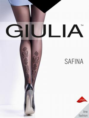 Фантазийные колготки SAFINA 02, 2 пары (20 ден) Giulia. Цвет: черный