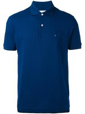 Рубашка-поло с логотипом на груди Ballantyne. Цвет: синий