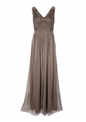 Вечернее платье ASHLEY BROOKE by Heine. Цвет: желтый, серо-коричневый