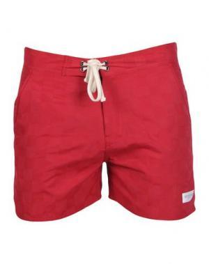 Пляжные брюки и шорты SATURDAYS SURF NYC. Цвет: красный