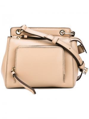 Миниатюрная сумка-сэтчел Saffiano Donna Karan. Цвет: телесный