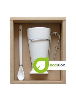 Набор для чаепития Ecowoo. Цвет: белый