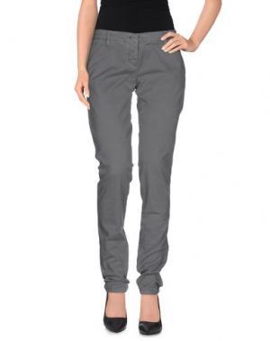 Повседневные брюки UZÈS. Цвет: серый