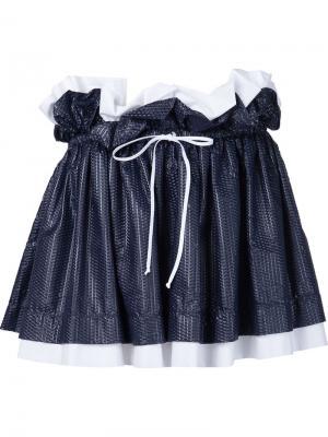 Мини-юбка на завязках Arthur Arbesser. Цвет: чёрный